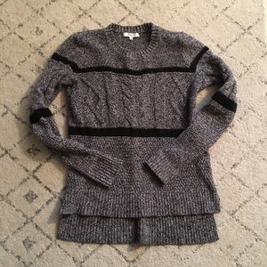 Madewell cabled speckled marl sweater XS